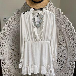 Dresses & Skirts - Chic 🌸Woven White Sundress Dress